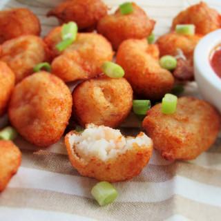 Yam and Shrimp Fritters (Ojojo)