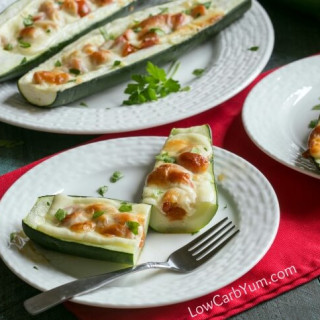 Zucchini Pizza Boats - Gluten Free
