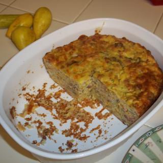 Zucchini Cheese Bacon Casserole