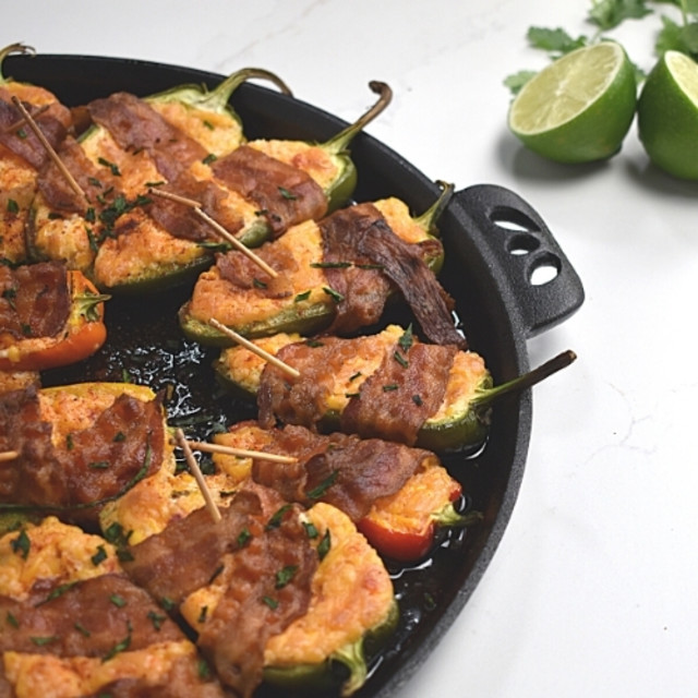 Bacon-Wrapped Pimento Cheese Jalapeno Poppers