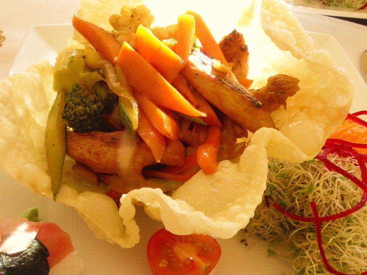 Hot Szechuan Chicken Salad