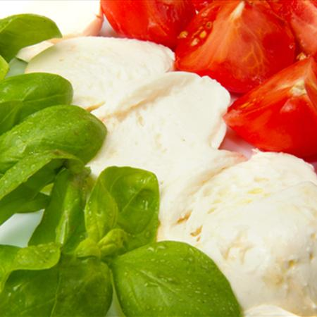 Basil, Mozzarrella and Tomatoes - key ingredients in many Italian dishes