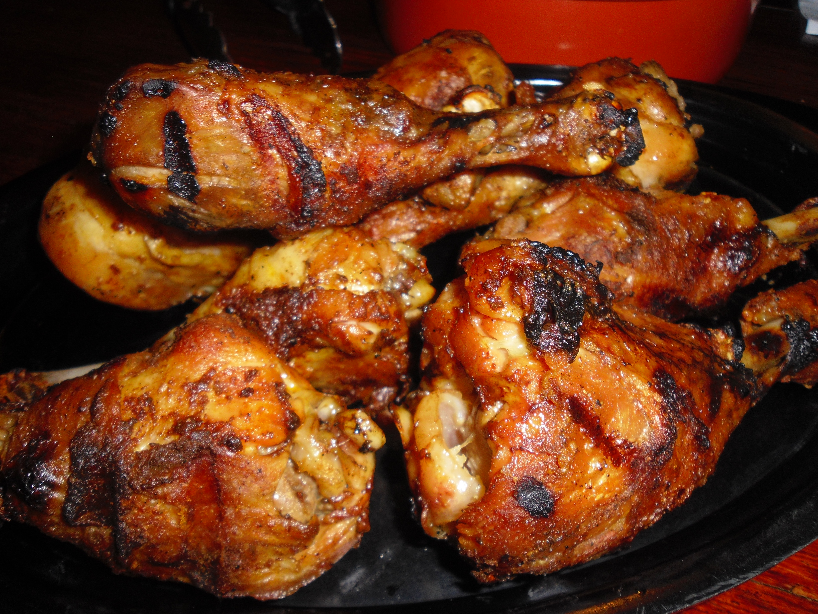 Lemon and Black Pepper Marinated Grilled Chicken Legs - BigOven