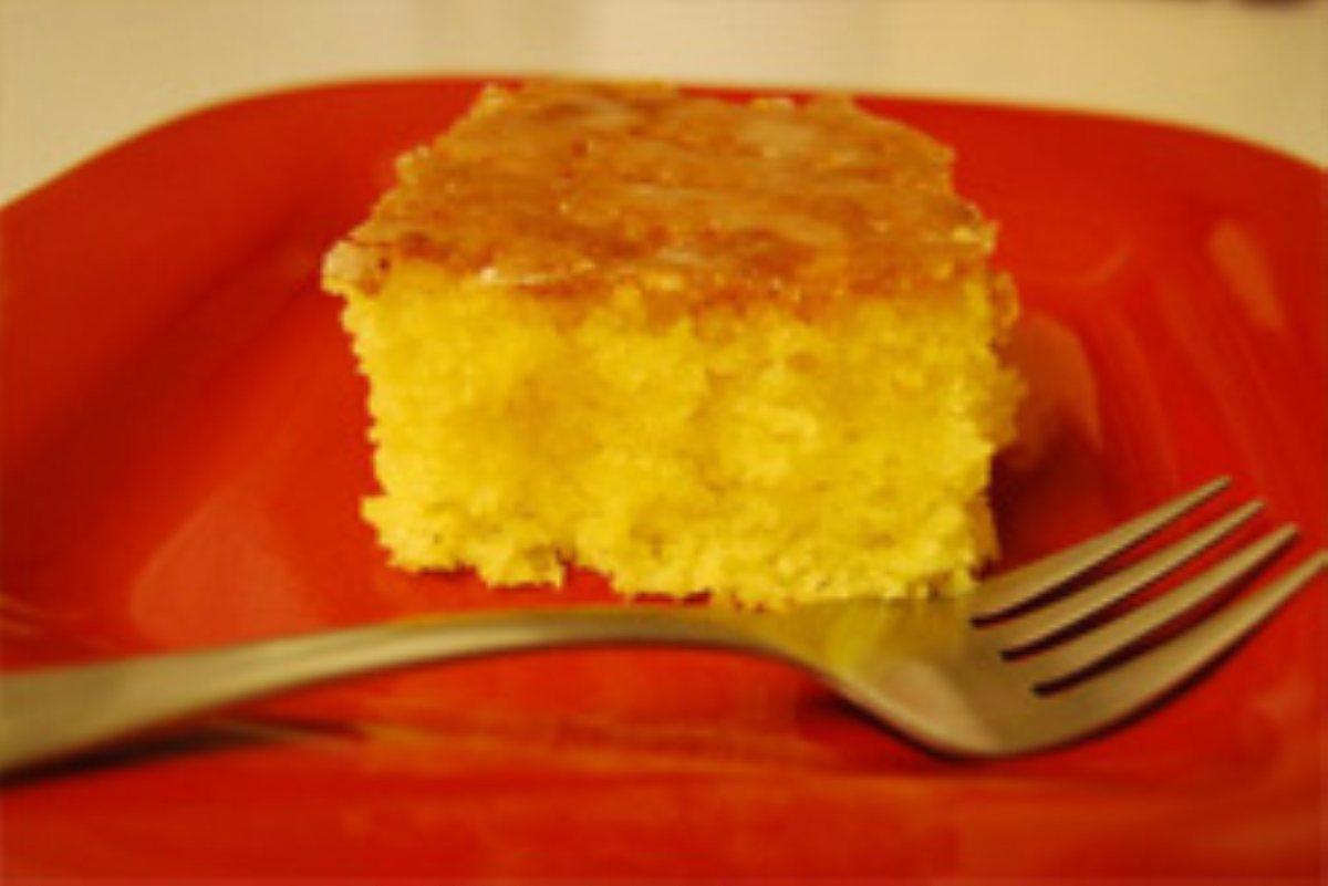 Lemon Cake Made With Cake Mix And Jello