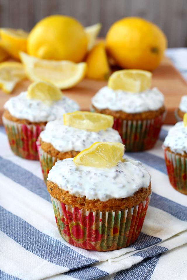 ... lemon poppy seed muffins with greek yogurt frosting yields 12 muffins