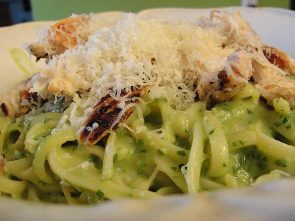 Linguine with Avocado Pesto