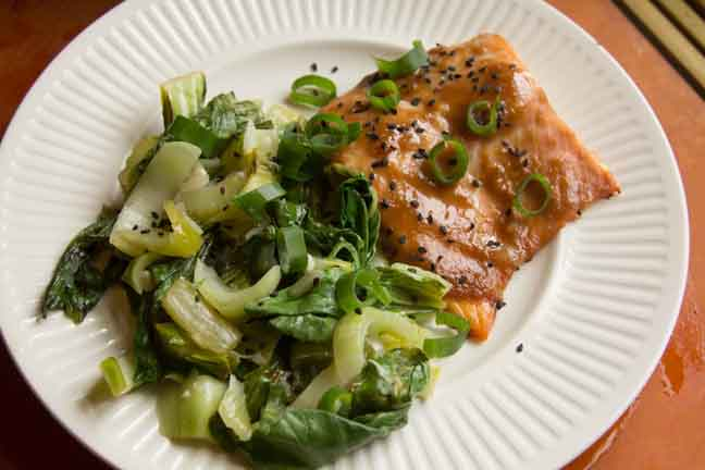 Recipes Course Miso-Glazed Salmon with Bok Choy
