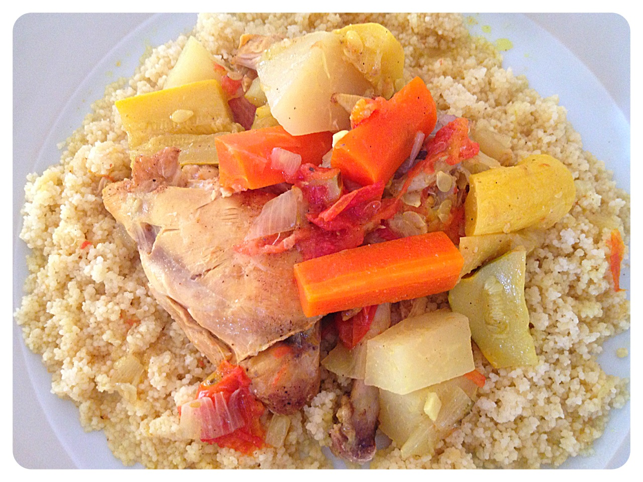 Moroccan Chicken and Summer Squash Cous Cous - BigOven