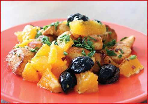Recipes By Course Main Dish Poultry - Chicken Orange Olive Chicken