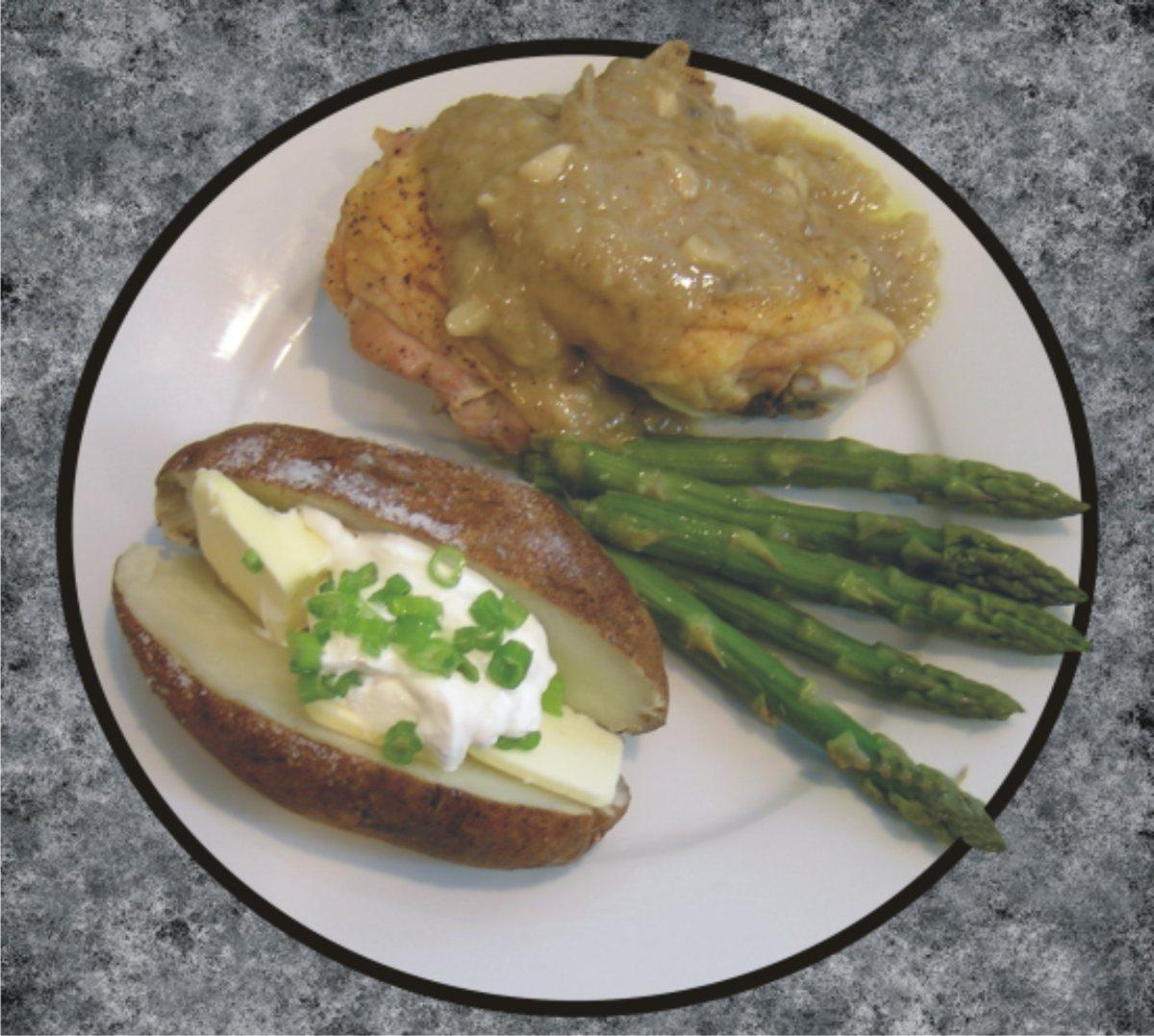 Oven Roasted Chicken With Onion & Garlic Gravy - BigOven