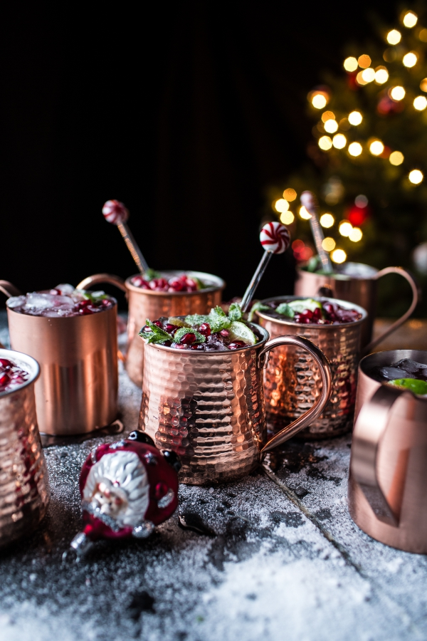 Pomegranate & Peppermint Moscow Mules