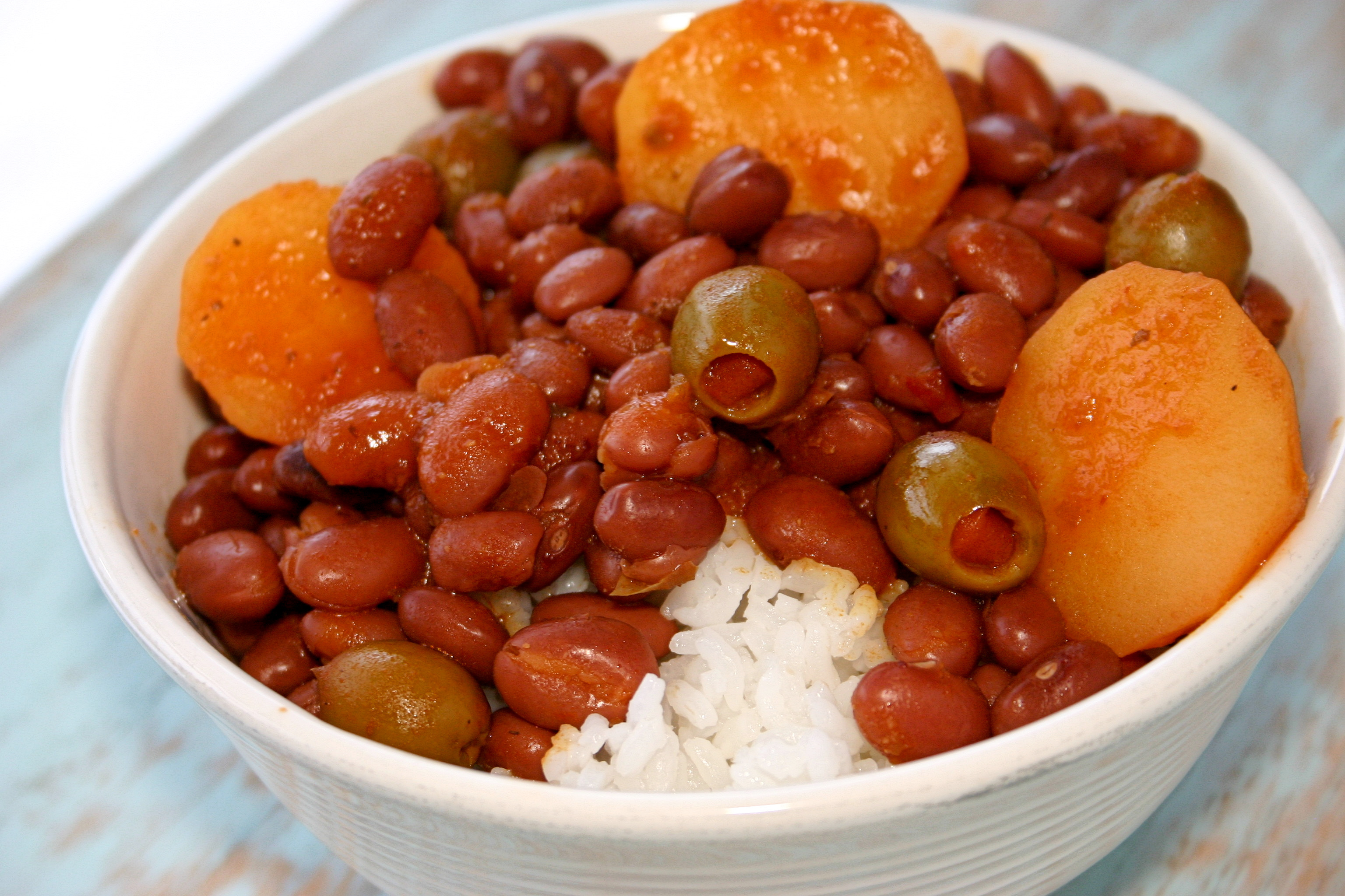 ... Beans and Legumes Puerto Rican Rice and Beans (Habichuelas Guisadas