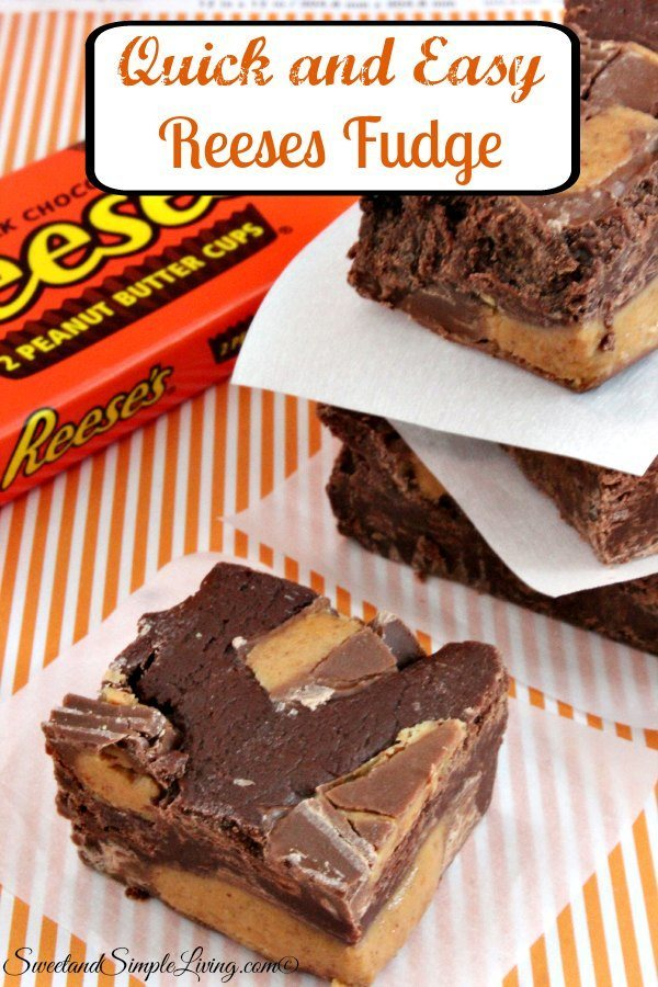Recipes Course Desserts Candies Quick and Easy Reese's Fudge