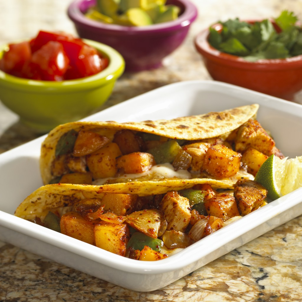 Quick And Healthy Chile Lime Potato Tacos