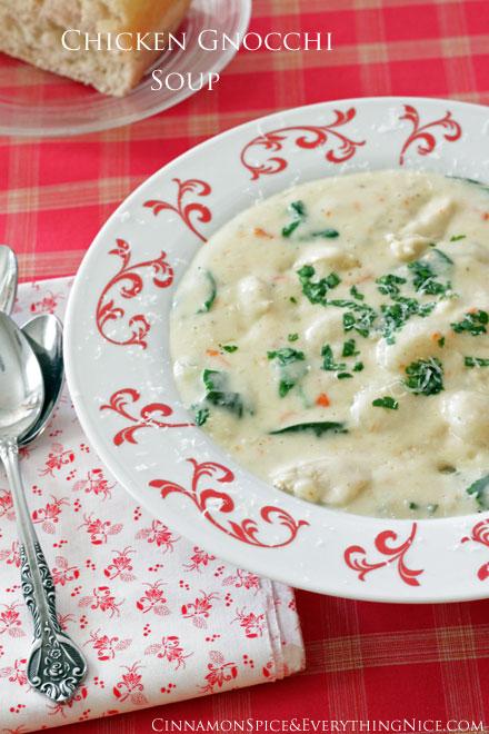 chicken gnocchi soup olive garden copycat - Chicken Gnocchi Soup Olive Garden