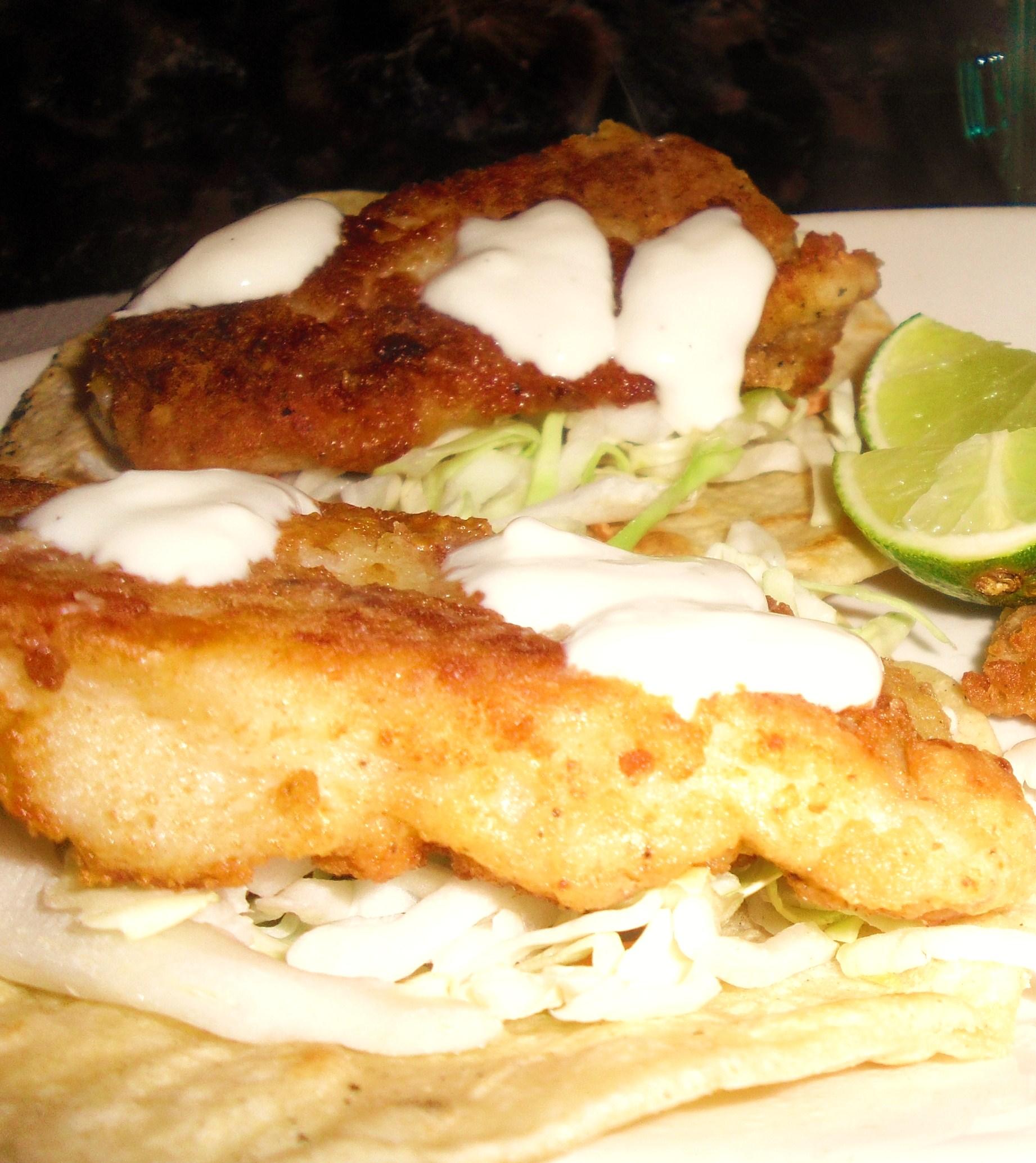 San felipe style fish tacos in beer batter bigoven for Fish taco batter recipe