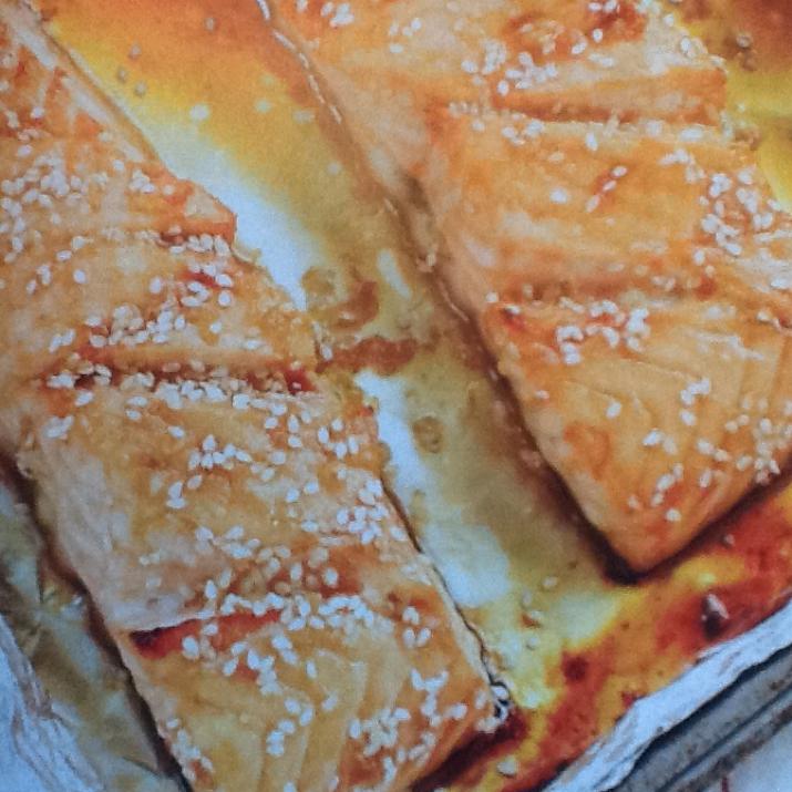 Saumon grill au miel et au s same bigoven - Sauce pour saumon grille barbecue ...