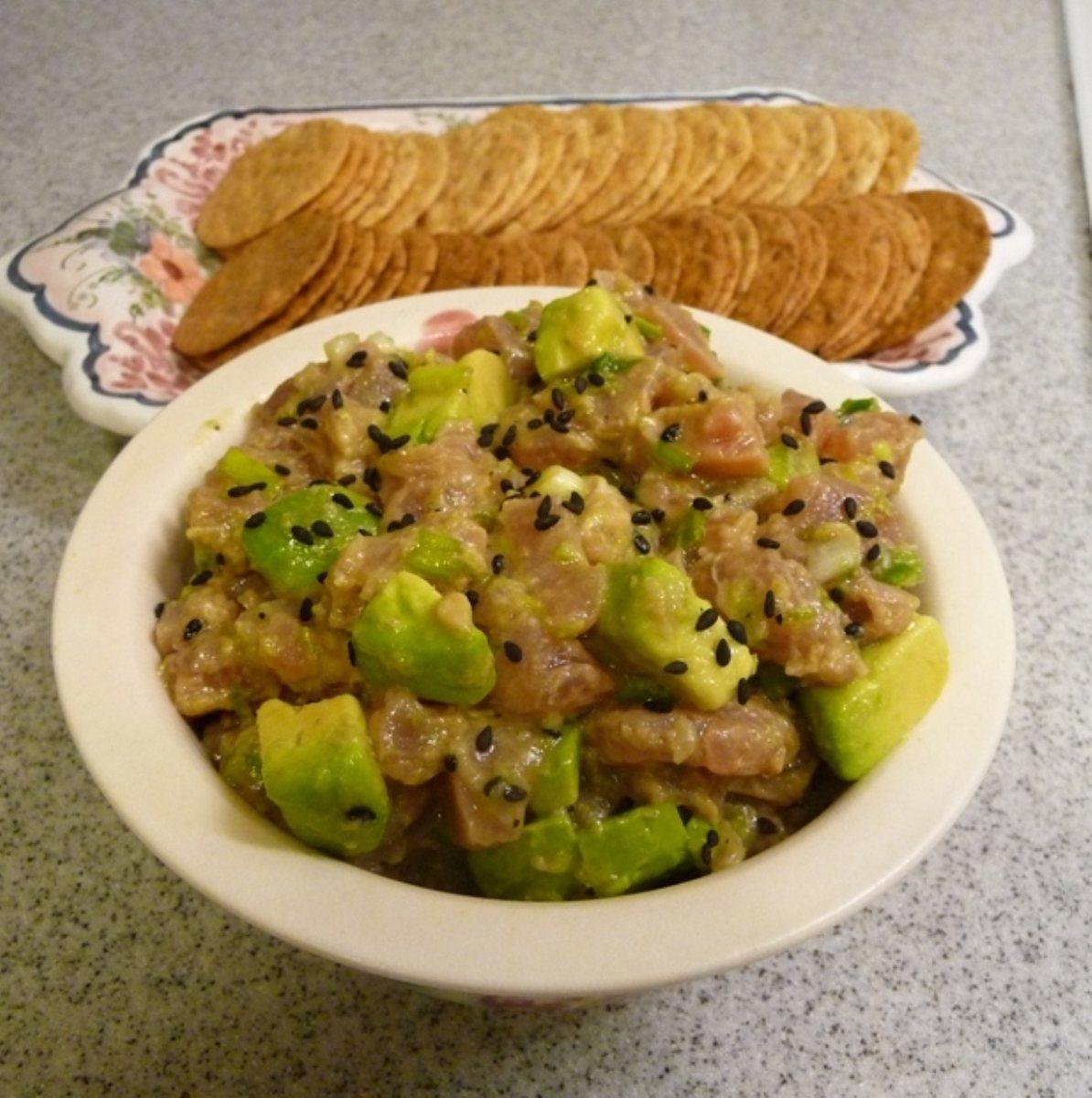 Sesame Tuna Tartare with Avocado - BigOven