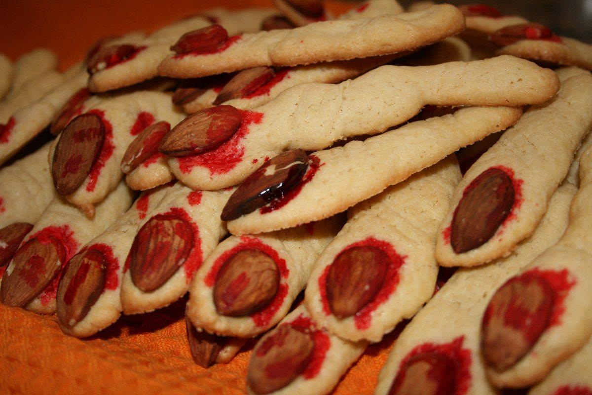 Severed Halloween Finger Cookies - BigOven