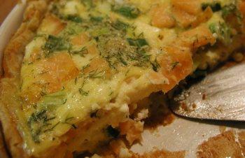 Smoked Salmon and Goat Cheese Quiche - BigOven