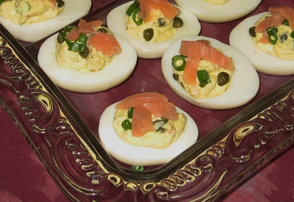 Smoked Salmon Deviled Eggs Recipe — Dishmaps