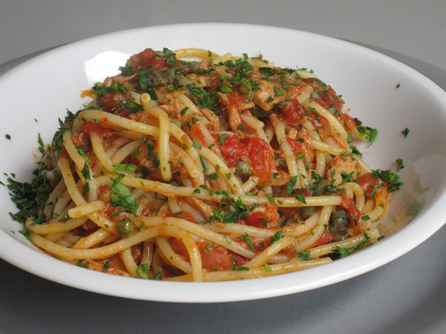 Spaghetti with chicken marinara sauce - BigOven