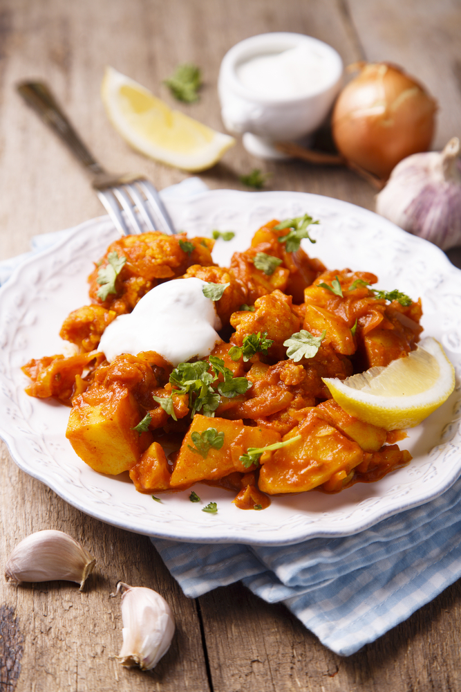 Spicy Cauliflower and Potato (Aloo Gobi) Fry