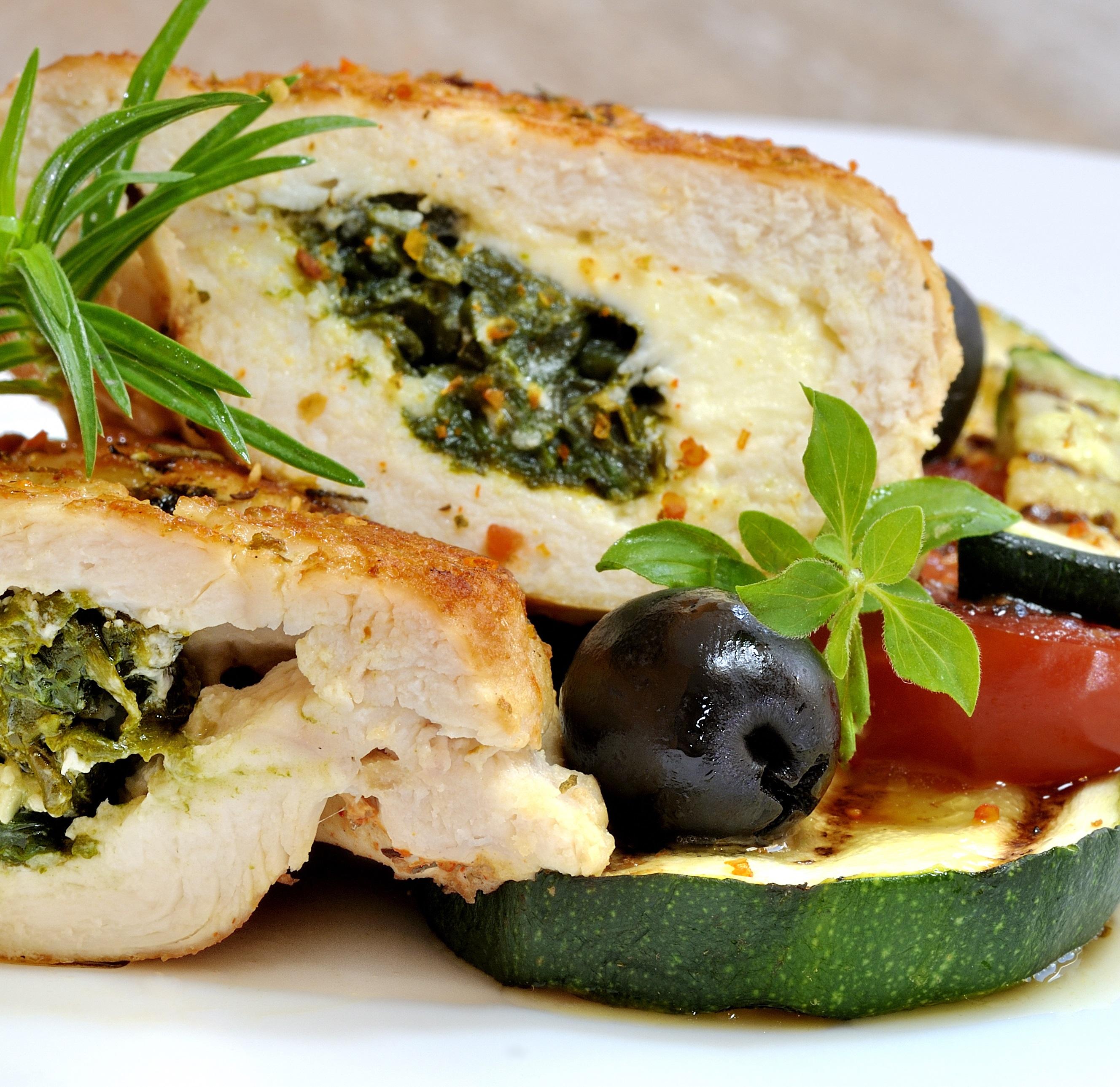 Spinach-Stuffed Chicken Breasts - BigOven
