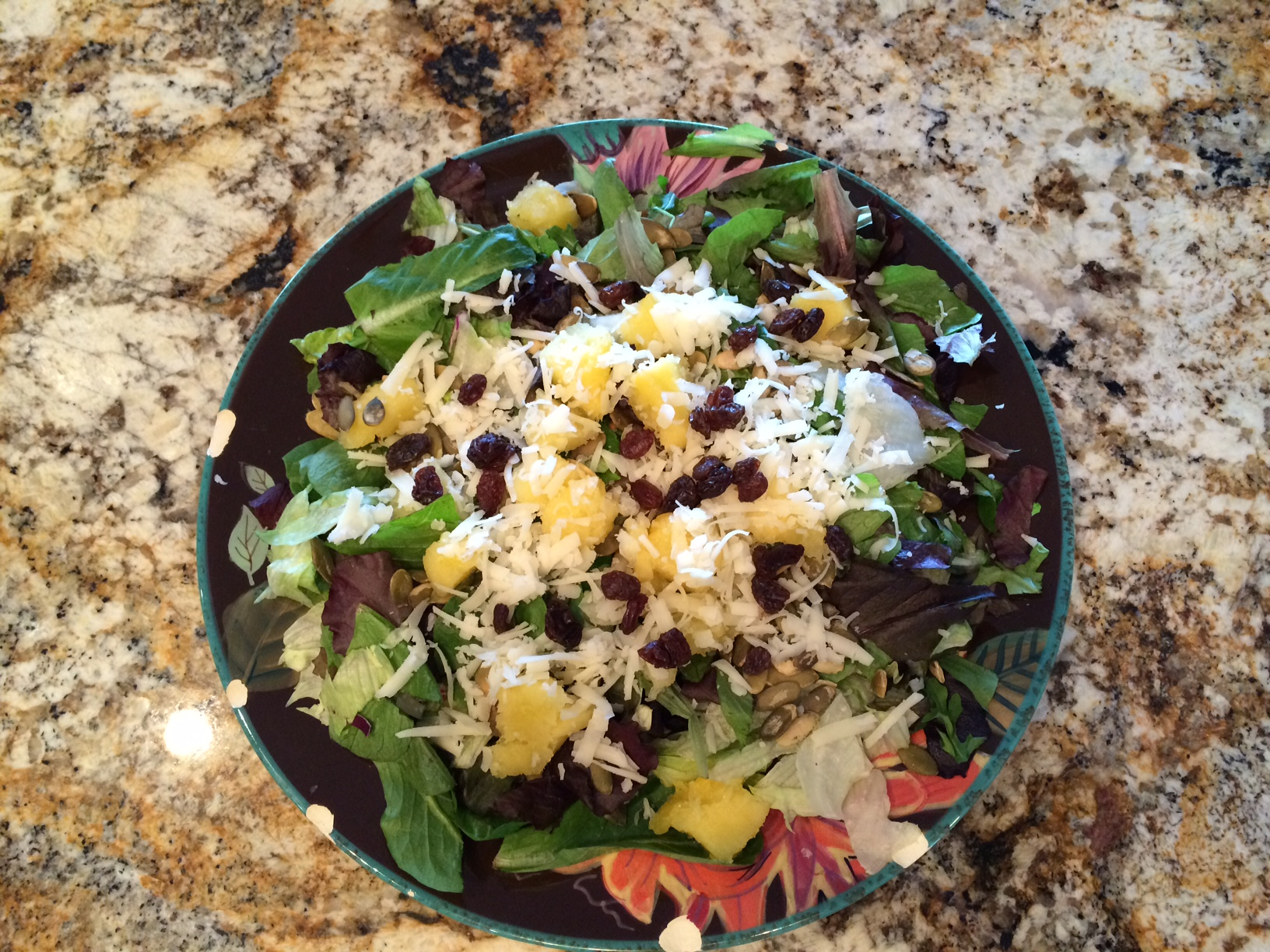 ... , Cranberry, Pumpkin Seed and Manchego Salad with Vinaigrette (Mike