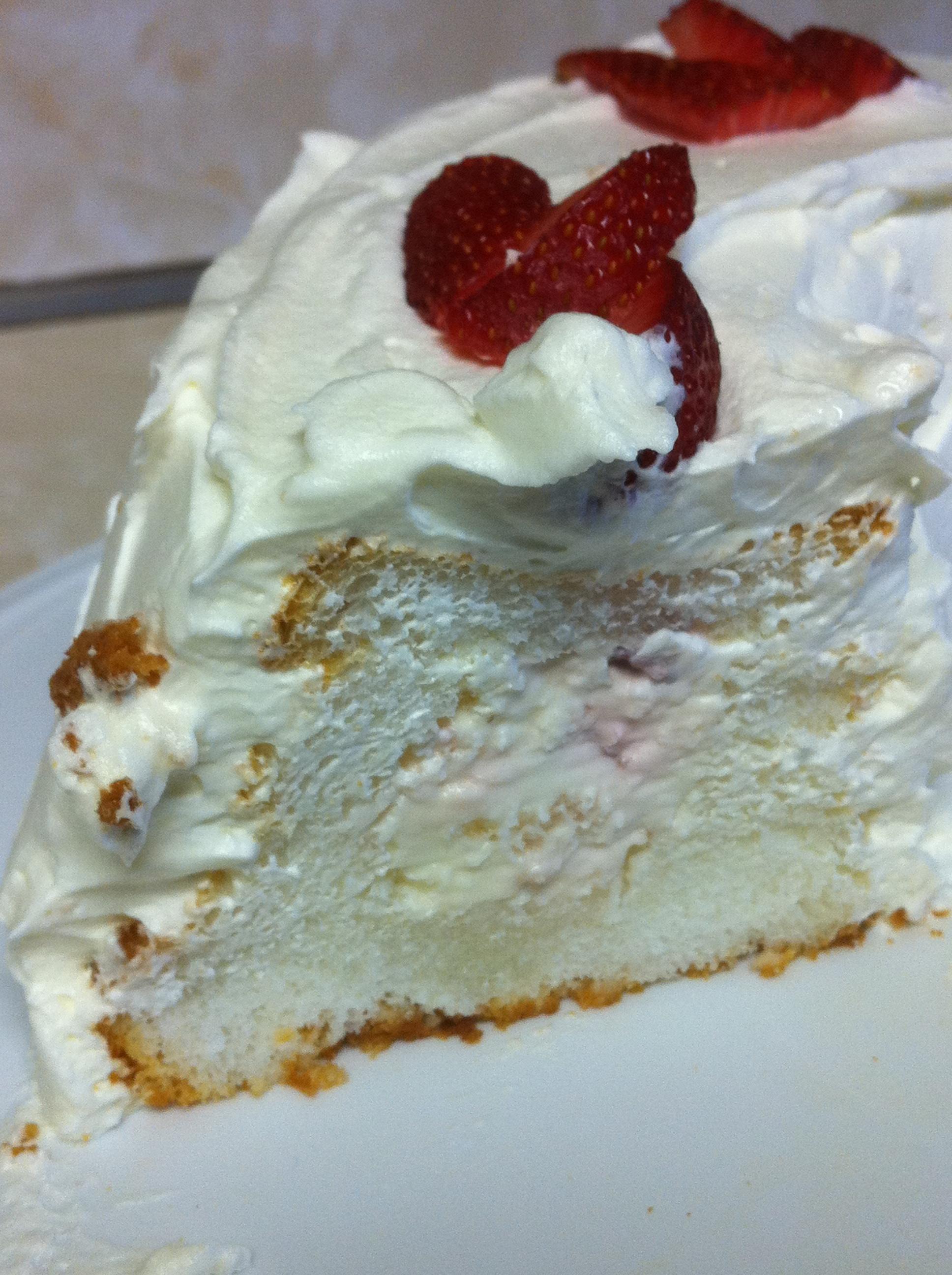 Strawberry Tunnel Angel Food Cake Recipe