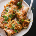 Spinach Artichoke Enchiladas