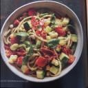 Avocado, Prosciutto, and Seasonal Vegetable Pasta