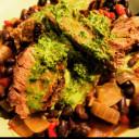 Black Beans with Steak