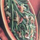 Green Beans with Mushrooms & Bacon