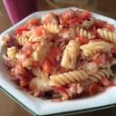 Halloumi and tomato pasta