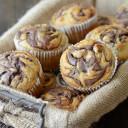 Nutella Swirled Banana Muffins