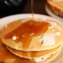 Pancakes with Orange-Rum Bananas