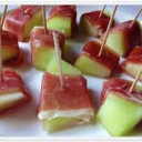Proscuitto with Melon Ribbons