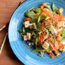 Sesame Ginger Tofu Stir Fry over Cauliflower Rice