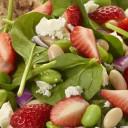 Strawberries, White Bean and Edamame Salad