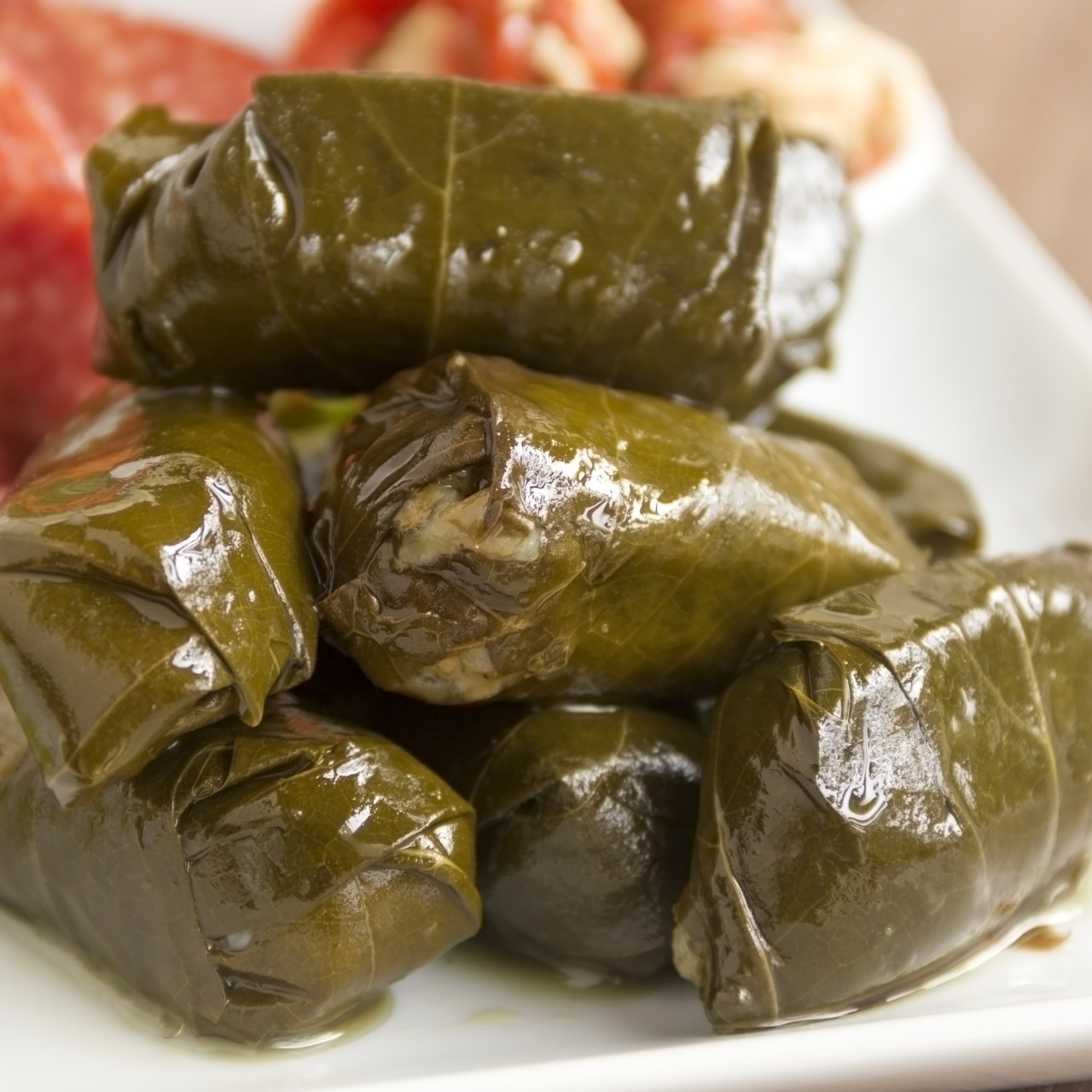 Dolmades Stuffed Grape Leaves
