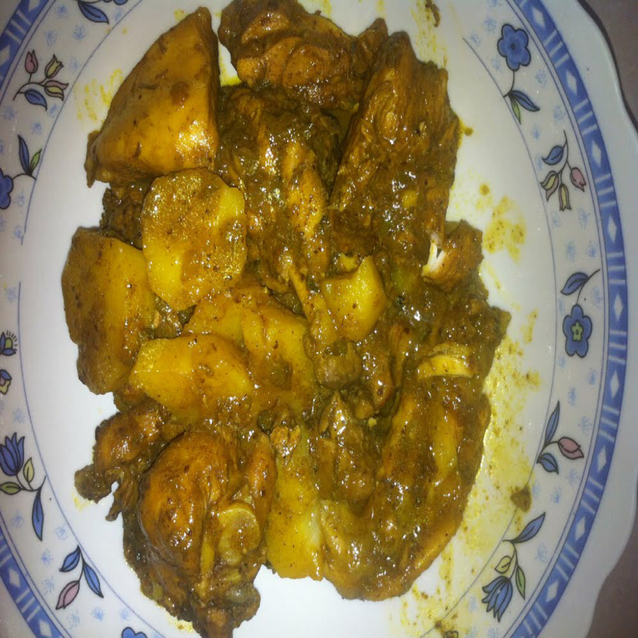real jamaican curry chicken