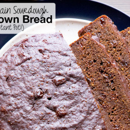 100% Whole Grain Sourdough Boston Brown Bread {Instant Pot}