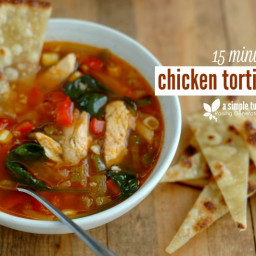 15 Minute Chicken Tortilla Soup PLUS! How To Make Chips Out Of Any Tortilla