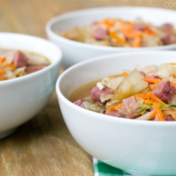 15-Minute Corned Beef and Cabbage Soup