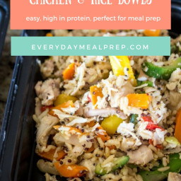 15-Minute Meal Prep Chicken and Rice Bowls