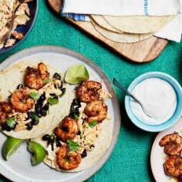 15-Minute Shrimp Tacos with Spicy Chipotle Slaw