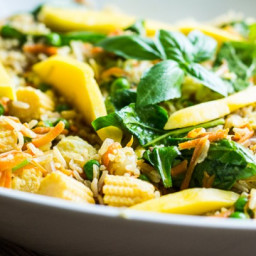 15 minute Vegetable Fried Rice with Mango