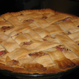 1943 Rhubarb Cream Pie