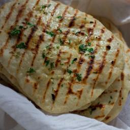 2 Ingredient Naan Flatbread {+ Garlic Naan} Recipe